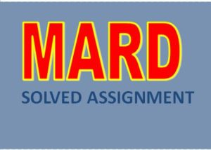 IGNOU MARD SOLVED ASSIGNMENT 2017-18