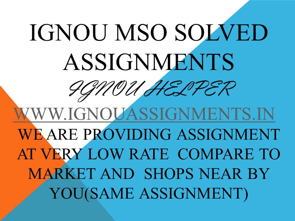 IGNOU MSO 1SOLVED ASSIGNMENT